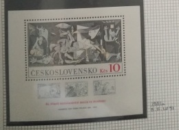 P7 Paintings - Czechoslovakia 1981 MNH Minisheet 45th Anniv Of Intntl Bridges In Spain & 100th Anniv Birth Picasso - Unused Stamps
