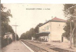 Cpa 68 Beaucourt La Gare Belle Carte Rare - Other Municipalities