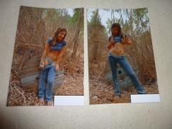 2 REPRODUCTIONS PHOTOS BELLE  JEUNE FEMME  SEXY ..DANS LA NATURE - Femmes