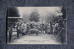 Forêt De CHAMPROND :Chasse à Courres, Vautrait Bertin, Rond De Diane Avant La Reprise. - Chasse