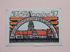 Schöppenstedt 50 Pfennige NOTGELD - 1921 ( Details Zie Foto ) ! - [11] Lokale Uitgaven