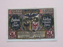 GUTSCHEIN Der STADT - SPREE - 50 Pfennige NOTGELD - 1921 - 112994 ( Details Zie Foto ) ! - [11] Lokale Uitgaven