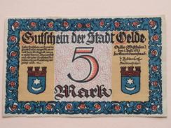 GUTSCHEIN Der STADT VELDE - 5 MARK NOTGELD - 1921 ( Details Zie Foto ) ! - [11] Local Banknote Issues