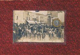 66 SAINT LAURENT DE SALANQUE  DEPART DE LA COURSE CYCLISTE SAINT HIPPOLYTE 1925 - France