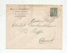 Lettre , 1904 , LIBOURNE , RUFFEC , Maison L. Gaspard Fils , F. Alban , Successeur - 1877-1920: Période Semi Moderne
