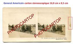 General Americain-Reception En Escadrille-Aviation-Fliegerei-Carton Stereoscopique-Periode Guerre 14-18-1 WK-MILITARIA- - 1914-1918: 1st War