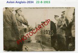 Avion Anglais 2034--22-8-15-Feld. Art.Regt.58-Aviation-Aircraft-Fliegerei-CARTE PHOTO Allemande-Guerre 14-18-1 WK-MILITA - 1914-1918: 1st War