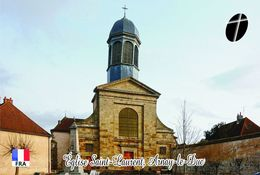 Carte Postale, Eglises, Churches Of France (Côte-d'Or), Arnay-le-Duc, Église Saint Laurent 1 - Eglises Et Cathédrales