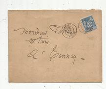 Lettre , 1883 , CLAMECY , NIEVRE , à Tannay - Storia Postale