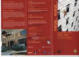 BELGIQUE Flyer Encart TINTIN EN VILLE KUIFJE IN DE STAD Halles St Géry - Hergé