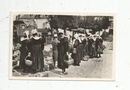 Cp , Commerce ,Marché , 29 , PONT AVEN , Jour De Marché , Folklore , Voyagée 1949 - Marchés