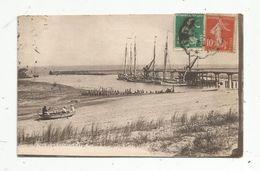 Cp ,33,  LA POINTE DE GRAVE ,le Port BLOC , Côte D'Argent , Ed : BR , N° 83 , Voyagée 1920 - Autres Communes