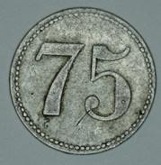 "Romania Kingdom Roumanie Rumänien 75 Bani "" Fratii Kemény Salonta "" 1924 - 1940 - Professionals / Firms"