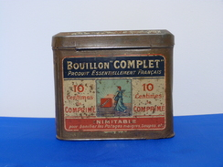 """Ancienne Boîte En Métal """"BOUILLON COMPLET"""" - Dozen"""