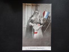 CPA - PETITE REFUGIEE - Y PENSER TOUJOURS - PHOT MANUEL - PATRIOTIC 1914-18 - TRES JOLI CARTE - R10751 - Patriottiche