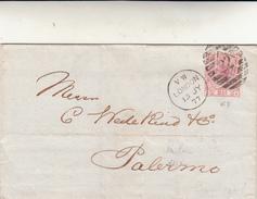 London To Palermo, Cover 1877 - 1840-1901 (Regina Victoria)
