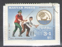 Hungary Used On Paper 1967 The 14th Congress Of International Federation Of Anglers - CIPS Fish - Usado