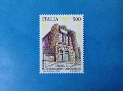 1992 ITALIA FRANCOBOLLO NUOVO STAMP NEW MNH** COLOMBO CELEBRAZIONI COLOMBIANE 500 LIRE - 6. 1946-.. Repubblica