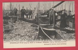 Dendermonde - War 1914-15 ...One Of The Many Factories Destroyed & Burned ... Wool Spinning  ( Verso Zien  ) - Dendermonde