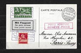 AÉRODROM DE COINTRIN → Meeting International De Genève, Poste Aérienne Genève-Paris 1925 - Luftpost