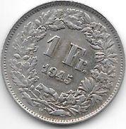 *switzerland 1 Franc 1945  Km 24    Xf - Zwitserland