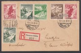 DR Einschreiben Brief Zusammendruck K33 K34 1939 Hannover Wülfel Nach Laatzen K835 - Germany