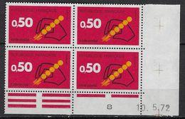 """FR Coins Datés YT 1720 """" Code Postal Rouge """" Neuf** Du 10.5.72 - Coins Datés"""