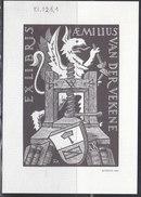 Luxemburg, Exlibris Für Aemilius Van Der Vekene (EL.221.1) - Ex-libris