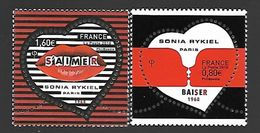 "France 2018 - Yv N° 5198 Et 5199 ** - Coeur ""Sonia Rykiel""  (Gommés - 0.80 € Et 1.60 €) - Mi N° 6939 Et 6940) - France"