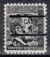 USA Precancel Vorausentwertung Preo, Locals North Carolina, Cary 841 - Vereinigte Staaten