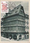 France CARTE MAXIMUM CARD KARTE STRASBOURG STRASSBURG MAISON KAMMERZELL EUROPA 1980 ST BENOIT PALAIS CONSEIL DE L EUROPE - Europa-CEPT