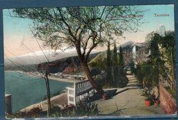 Taormina 1913 -- Giardino Duca Di Bronte -- Viaggiata - Messina