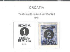 Croazia 1941 PO Yugo Stamps    Scott.25+See Scans Nuovi - Croacia