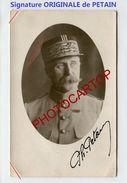 PETAIN-Signature ORIGINALE-1922-Marechal-CARTE PHOTO-MILITARIA- - Politicians & Soldiers