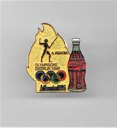 RARE PINS COCA COLA JEUX OLYMPIQUES ATLANTA 1996  N°4 FECHTEN ESCRIME / Signé TIM 1992 ACOG  / 33NAT - Coca-Cola