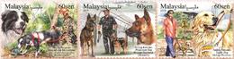 2018 Dog Year Zodiac Working Animal Police Mammal Stamp Malaysia MNH - Malaysia (1964-...)