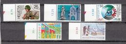 1989  N° 770 à 774  OBLITERES      CATALOGUE  ZUMSTEIN - Suisse