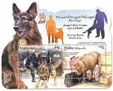 2018 Dog Year Zodiac Working Animal Police Mammal MS Stamp Malaysia MNH - Malaysia (1964-...)