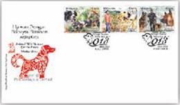 2018 Dog Year Zodiac Working Animal Police Mammal Stamp Malaysia FDC - Malaysia (1964-...)