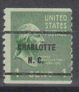 USA Precancel Vorausentwertung Preo, Bureau North Carolina, Charlotte 839-61 - Vereinigte Staaten