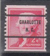 USA Precancel Vorausentwertung Preo, Bureau North Carolina, Charlotte 1055-71 - Vereinigte Staaten