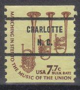 USA Precancel Vorausentwertung Preo, Bureau North Carolina, Charlotte 1614-71 - Vereinigte Staaten