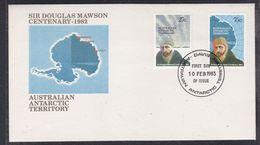 AAT 1983 Sir Douglas Mawson 2v FDC Ca Davis (37276) - FDC