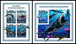 TOGO 2017 - Water Prehistorics, M/S + S/S. Official Issue. - Préhistoriques