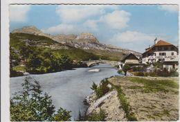 CPSM  SAINT MARTIN SUR ARVE 74  Le Pont Et La Chaîne Des Aravis - Autres Communes