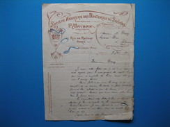 (1914) Facture Sté ANONYME DES PAPETERIES DU SOUCHE (P. Mauban, Dir.) Rue De Reuilly à Paris - Usines à Anould (Vosges) - Stamperia & Cartoleria