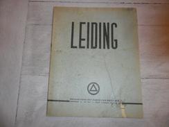 "1 X  "" LEIDING "" 1943 Vlaamse Beweging  V.N.V. Dietsche Militie Hulpbrigade Vlaams - Duitse Arbeidsgemeenschap - War 1939-45"