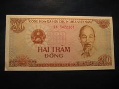200 Hai Tram Dong 1987 VIET NAM Vietnam Unused UNC Banknote Billet Billete - Vietnam