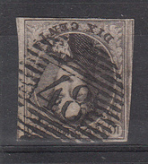 BELGIË - OBP - 1858 -  Nr 10 - (P 48 - GENAPPE (Dik Papier)) - (4 Randen) - Postmark Collection