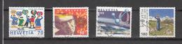 1999    N° 979 à 982   OBLITERES      CATALOGUE  ZUMSTEIN - Suisse